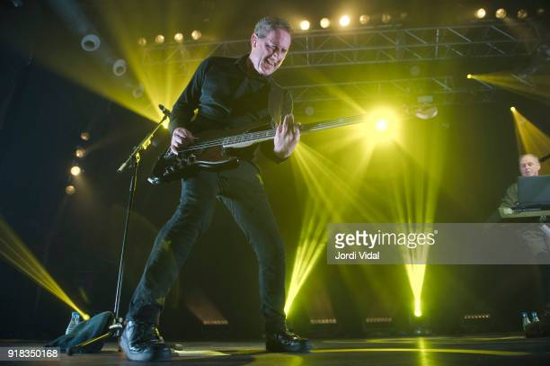 Andy McCluskey and Paul Humphreys of Orchestral Manoeuvres in the Dark perform on stage at Razzmatazz on February 14 2018 in Barcelona Spain