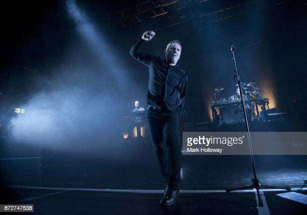 Andy McCluskey Stuart Kershaw of OMD performs at O2 Guildhall on November 10 2017 in Southampton England