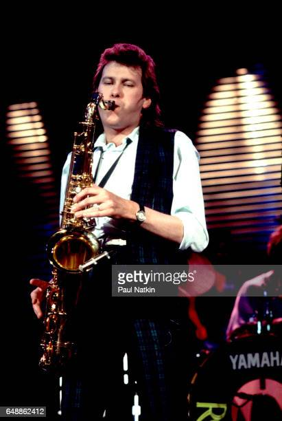 Andy McKay of Roxy Music at the UIC Pavilion in Chicago Illinois May 14 1983