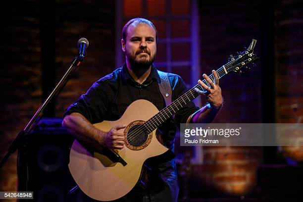 Andy McKee plays in a concert at Bourbon Street Music Hall in Sao Paulo Brazil