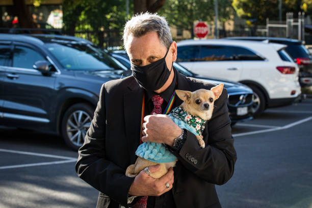 AUS: MPs Arrive At Parliament As Victorian Government Introduces New Proposed Pandemic Laws