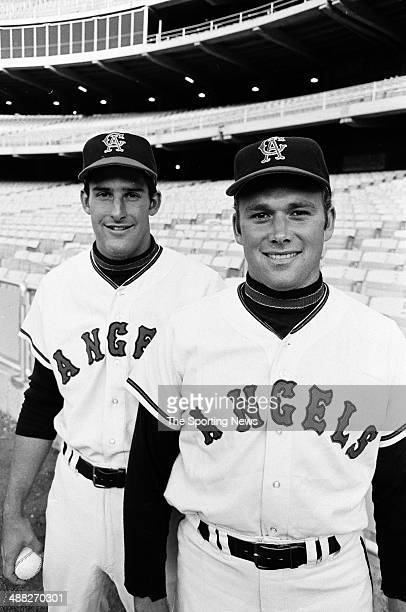 Andy Messersmith and Tom Murphy of the California Angels during the 1969 season