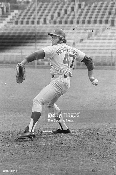 Andy Messersmith of the Los Angeles Dodgers circa March 1973
