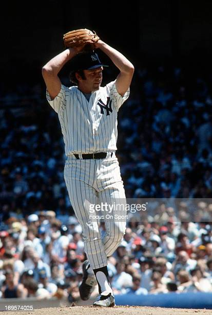 Andy Messersmith of the New York Yankees pitches during an Major League Baseball game circa 1978 at Yankee Stadium in the Bronx borough of New York...