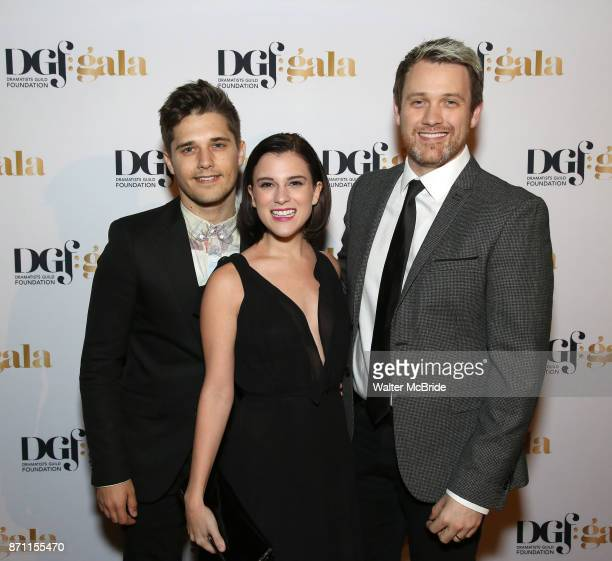 Andy Mientus Alexandra Socha and Michael Arden attend the 2017 Dramatists Guild Foundation Gala reception at Gotham Hall on November 6 2017 in New...