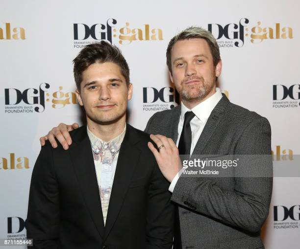 Andy Mientus and Michael Arden attend the 2017 Dramatists Guild Foundation Gala reception at Gotham Hall on November 6 2017 in New York City