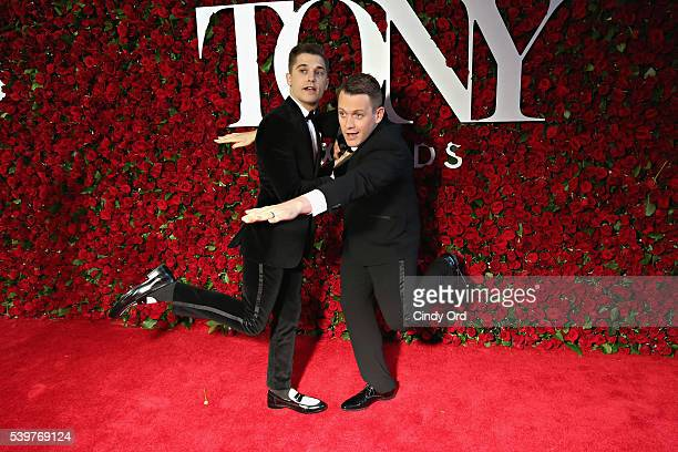 Andy Mientus and Michael Arden attend the 70th Annual Tony Awards at The Beacon Theatre on June 12 2016 in New York City