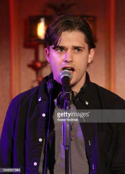 Andy Mientus from the cast of 'The Jonathan Larson Project' during the press preview on October 3 2018 at Feinstein's/54 Below in New York City