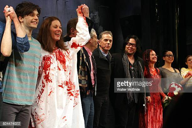 Andy Mientus Marin Mazzie Lawrence D Cohen Dean Pitchford Stafford ArimaMolly Ranson Jen Sese during the Opening Night Curtain Call for the MCC...