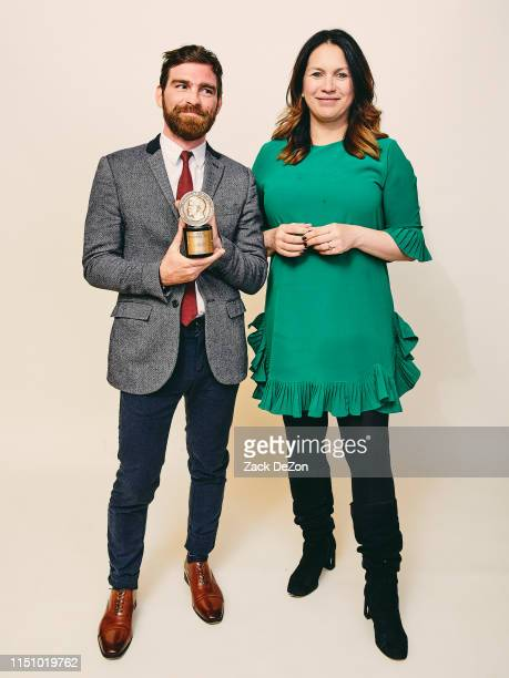 Andy Mills and Rukmini Callimachi of Caliphate pose for a portrait during The 78th Annual Peabody Awards Ceremony on May 18 2019 in New York City