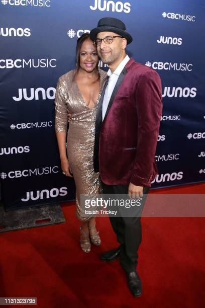 Andy Milne of Dapp Theory arrives on the red carpet at the 2019 Juno Awards at London Convention Centre on March 17 2019 in London Canada