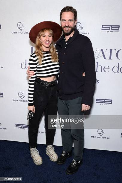 """Andy Mininger and Erin Mininger attend the OBB Premiere Event for YouTube Originals Docuseries """"Demi Lovato: Dancing With The Devil"""" at The Beverly..."""