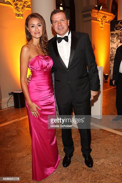 Andy Moeller and his wife Sigrid during the 33 Deutscher Sportpresseball German Sports Media Ball 2014 at Alte Oper on November 08 2014 in Frankfurt...