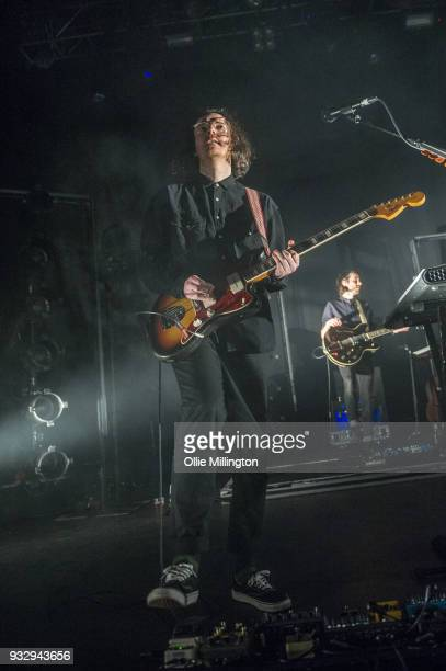 Andy Monaghan and Simon Liddell of Frightened Rabbit perform onstage at O2 Forum Kentish Town on March 16 2018 in London England