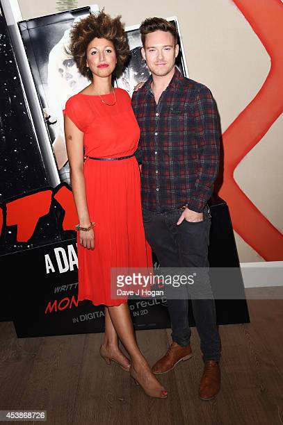 Andy Moss and Danielle Senior attend a VIP screening of 'Sin City 2' at Ham Yard Hotel on August 20 2014 in London England