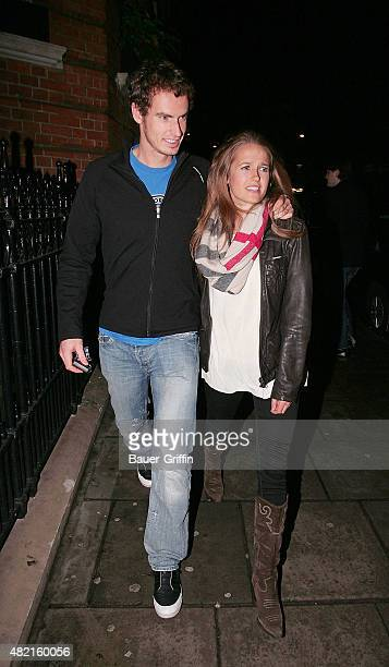 Andy Murray and his girlfriend Kim Sears are seen on February 23 2011 in London United Kingdom
