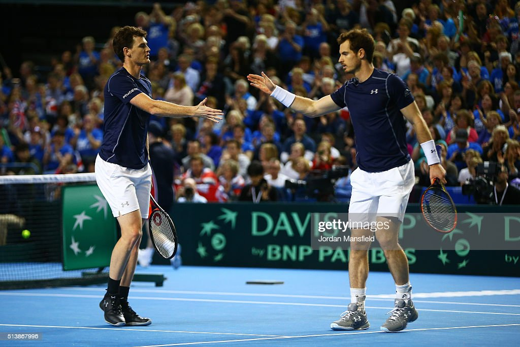 Great Britain v Japan - Davis Cup: Day Two : News Photo