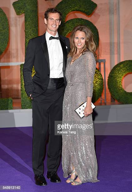 Andy Murray and Kim Murray attend the Wimbledon Winners Ball at The Guildhall on July 10 2016 in London England