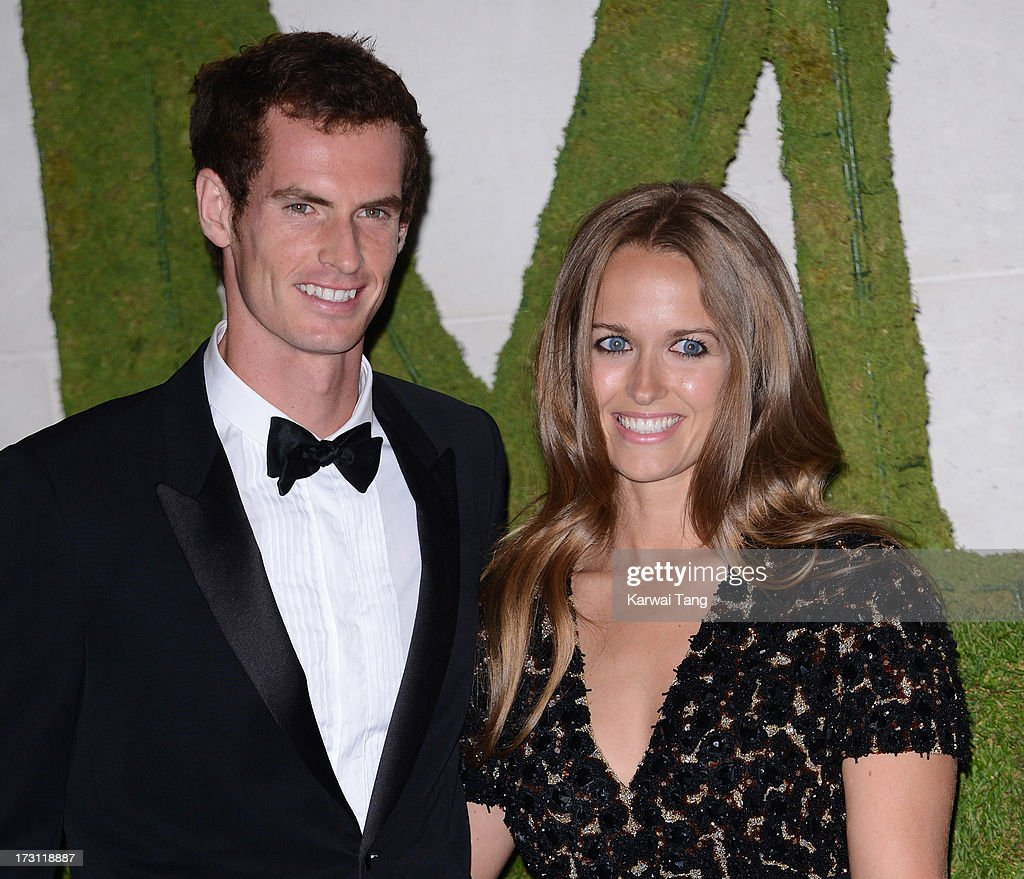 Andy Murray and Kim Sears arrive for the Wimbledon Champions Dinner held at the InterContinental Park Lane Hotel on July 7, 2013 in London, England.