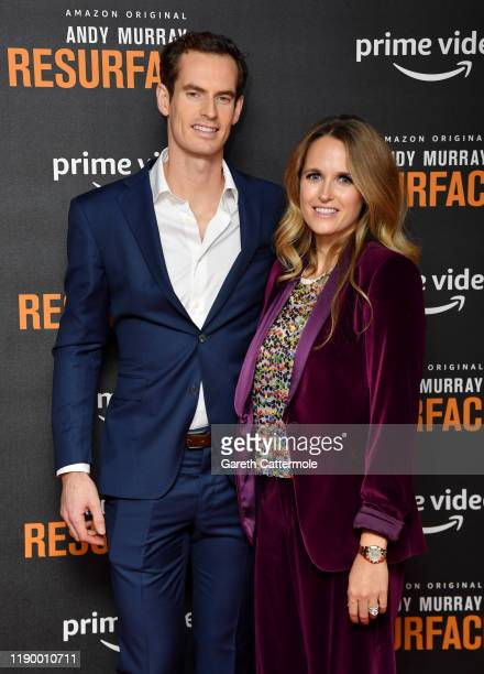 Andy Murray and Kim Sears attend the Andy Murray Resurfacing world premiere at the Curzon Bloomsbury on November 25 2019 in London England
