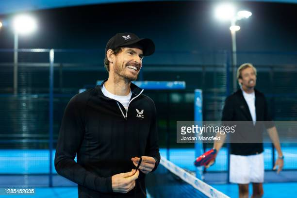 Andy Murray and Peter Crouch play Padel for BBC Children in Need 2020 filmed at the LTA's National Tennis Centre on November 09, 2020 in London,...
