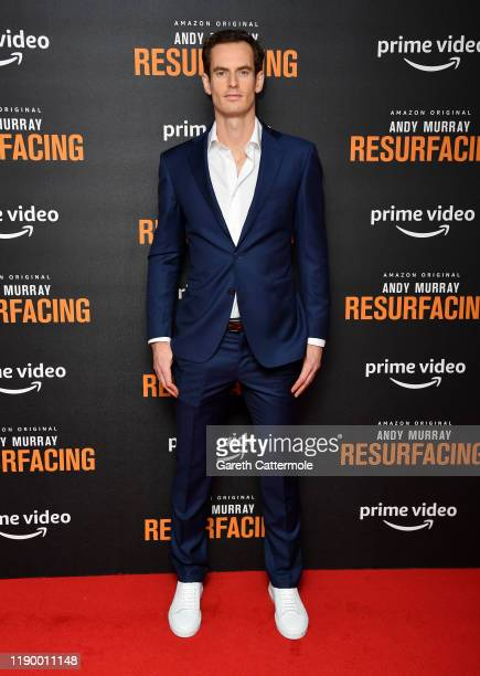 "Andy Murray attends the ""Andy Murray: Resurfacing"" world premiere at the Curzon Bloomsbury on November 25, 2019 in London, England."