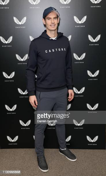 Andy Murray attends the Castore and Andy Murray Press Conference at The Queen's Club on March 06 2019 in London United Kingdom
