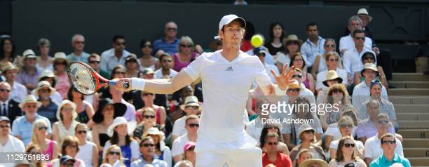 Andy Murray defeats Novak Djokovic to win his 1st Wimbledon Final 7th July 2013
