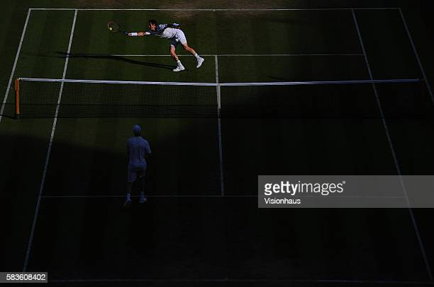 Andy Murray during his third round match against Andreas Seppi on Day Six of the 2015 Wimbledon Lawn Tennis Championships at the All England Lawn...