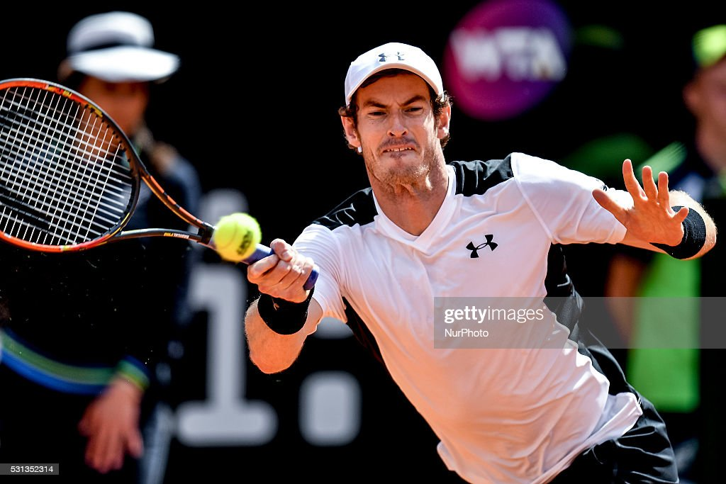 Andy Murray (GBR) during the ATP match Goffin (FRA) vs Murray (GBR) at the Internazionali BNL d'Italia 2016 at the Foro Italico on May 13, 2016 in Rome, Italy.