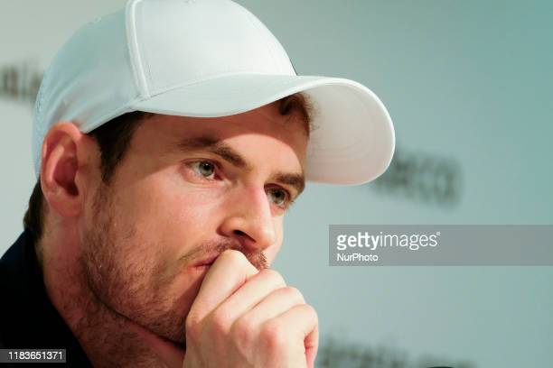 Andy Murray during the Press conference during Day 3 of the 2019 Davis Cup at La Caja Magica on November 20 2019 in Madrid Spain