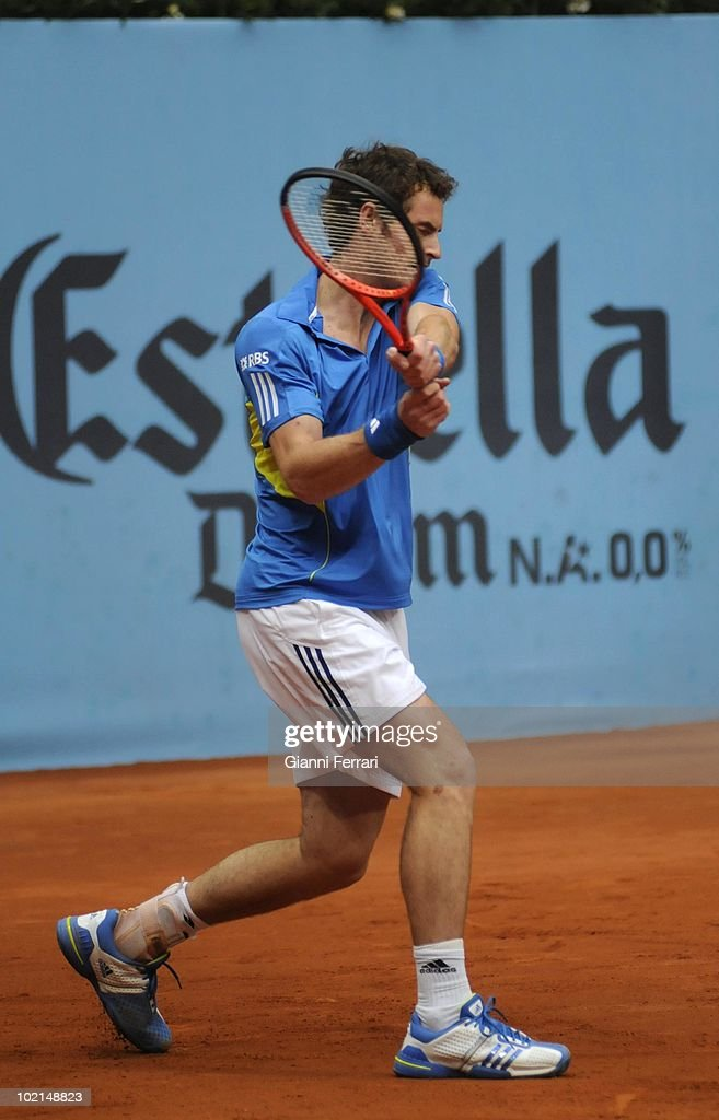 Andy Murray, GBR, in 'Mutua Madrilena Madrid Open' of tennis, 8th May 2010, in 'La Caja Magica'. Madrid, Spain.