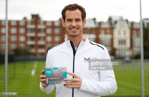 Andy Murray launches TRR Nutrition PRO Advanced Collagen Daily Liquid Supplement for pro-athletes at Queens Club on September 12, 2019 in London,...