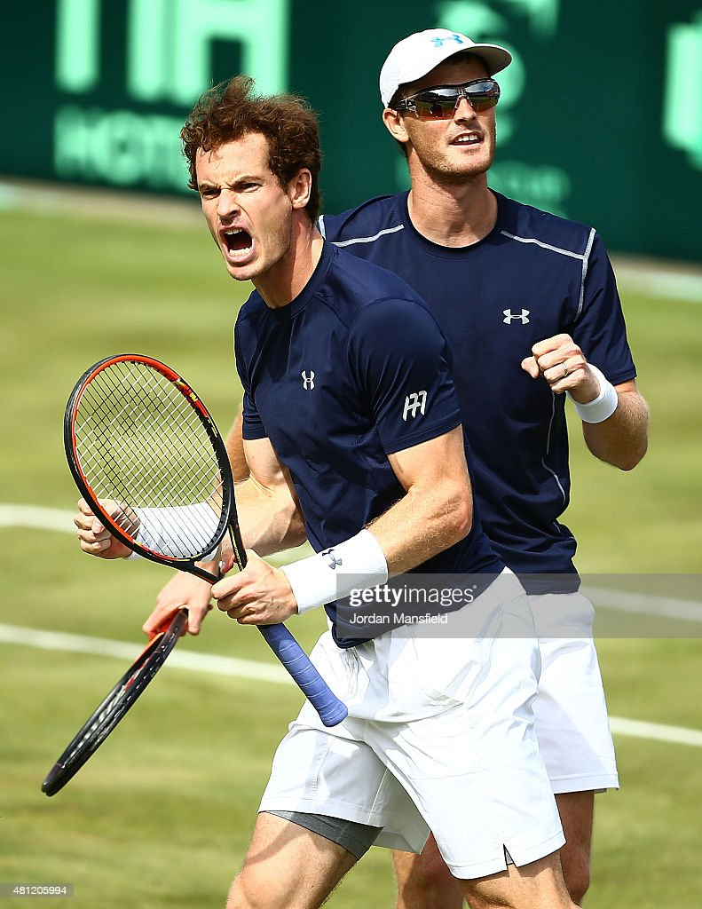 Great Britain v France - Davis Cup: Day Two : News Photo