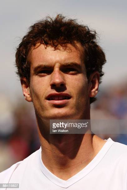 Andy Murray of Great Britain celebrates winning the match during the men's third round match against Guillermo Garcia-Lopez of Spain during Day 3 of...