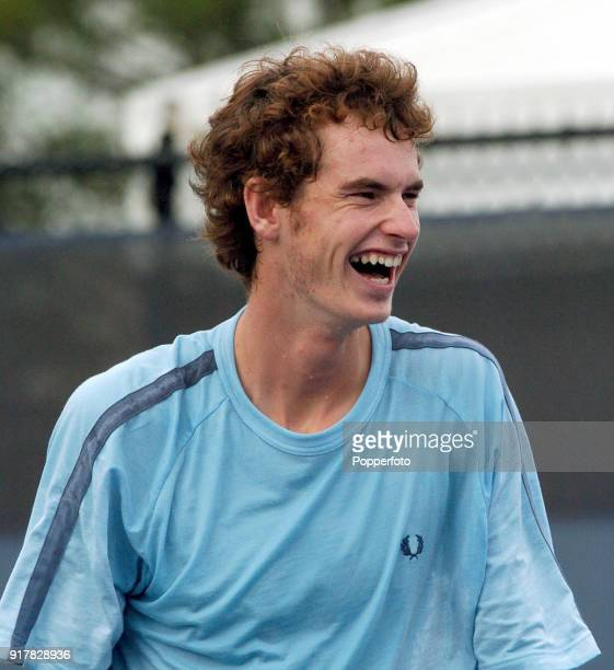 Andy Murray of Great Britain during a practice session prior to his second round match at the US Open at the USTA National Tennis Center in Flushing...