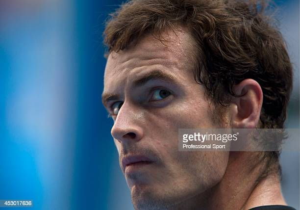 Andy Murray of Great Britain during his fourth round match against Gilles Simon of France on day eight of the 2013 Australian Open at Melbourne Park...