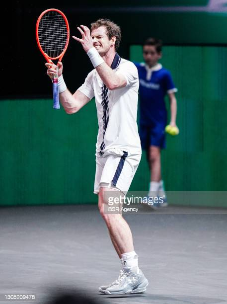 Andy Murray of Great Britain frustated during his match against Andrey Rublev of Russia at the 48th ABN Amro Tennis World Tournament at Rotterdam...