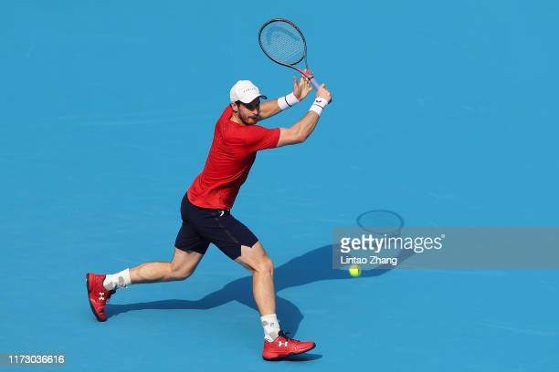 Andy Murray of Great Britain in action against Cameron Norrie of Great Britain during the Men's singles 2 round of 2019 China Open at the China...