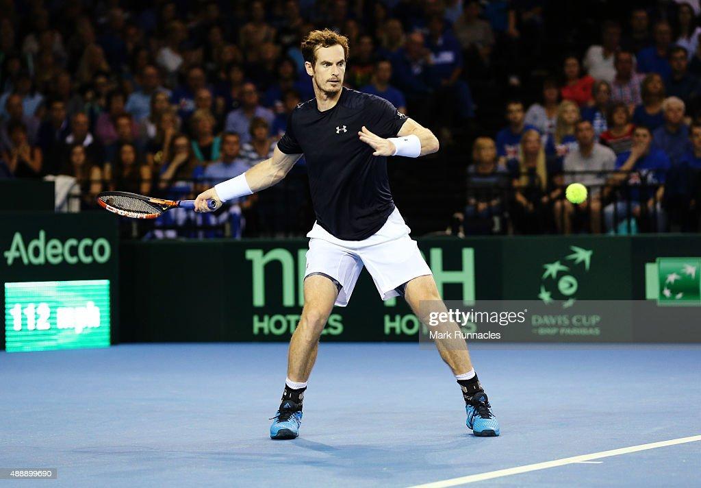 Great Britain v Australia Davis Cup Semi Final 2015 - Day 1 : News Photo