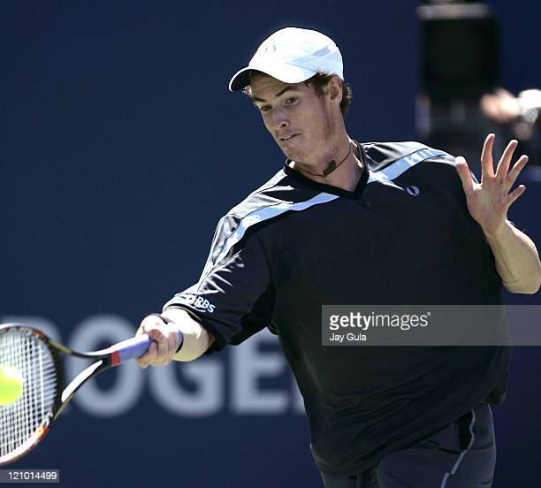 Andy Murray of Great Britain in action vs Jarkko Nieminen of Finland at the Rogers Cup ATP Master Series tennis tournament at the Rexall Centre in...