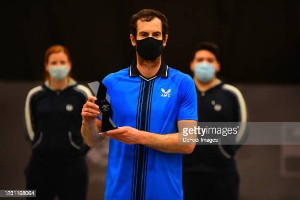 Andy Murray of Great Britain looks on during the Biella ATP Challenger 80 Final match between Andy Murray and Illya Marchenco at Palapajetta...