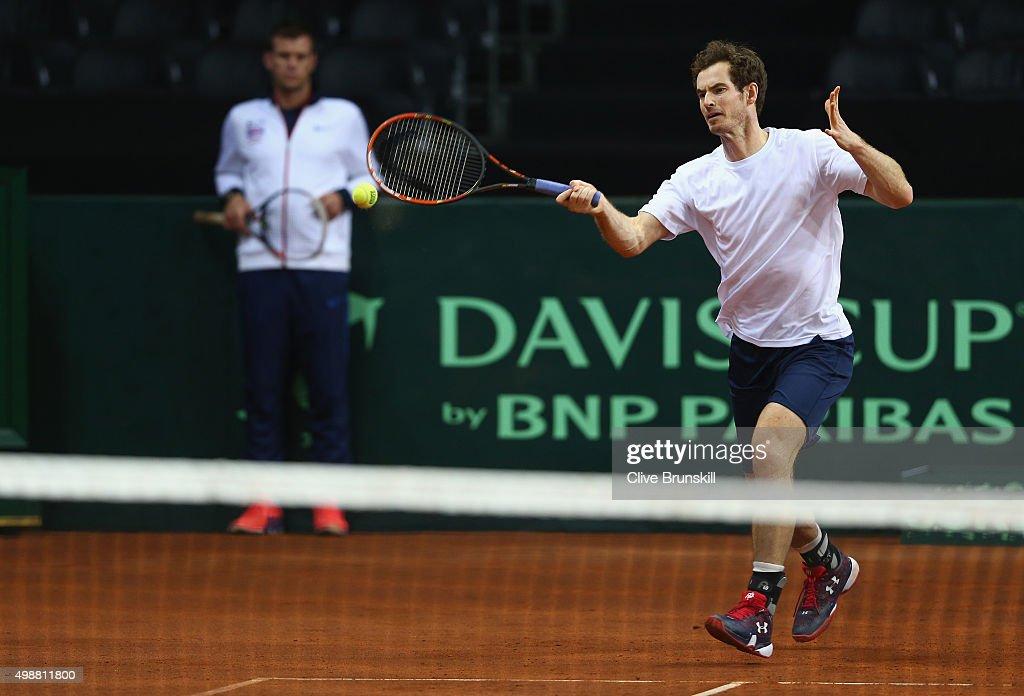 Belgium v Great Britain: Davis Cup Final 2015 - Previews : News Photo