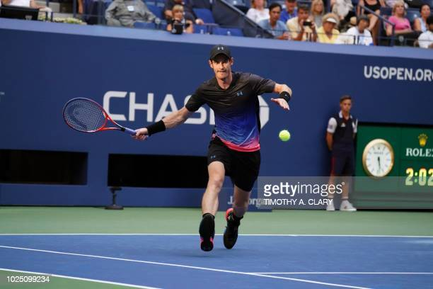 Andy Murray of Great Britain plays against Fernando Verdasco of Spain during Day 3 of the 2018 US Open Men's Singles match at the USTA Billie Jean...