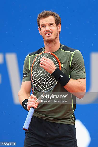 Andy Murray of Great Britain reacts during the finale match between Andy Murray of Great Britain and Philipp Kohlschreiber of Germany of the BMW Open...