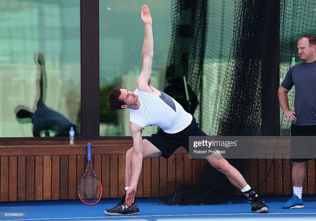 Andy Murray Training Session : ニュース写真