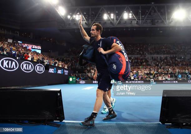 Andy Murray of Great Britain walks off court after his first round loss to Roberto Bautista Agut of Spain during day one of the 2019 Australian Open...