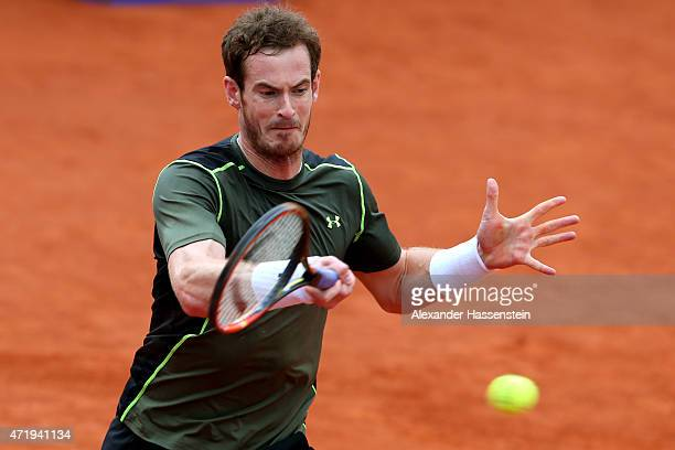 Andy Murray of Scotland plays o fore hand during his semi finale match against Roberto Bautista Agut of Spain of the BMW Open at Iphitos tennis club...