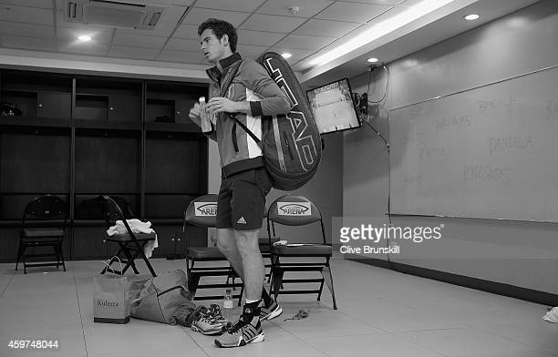 Andy Murray of the Manila Mavericks gets ready to leave the locker room to play against Nick Krygios of the Singapore Slammers during the CocaCola...