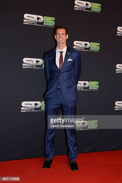 Andy Murray on the red carpet before attending the BBC Sports Personality of the Year award at Odyssey Arena on December 20 2015 in Belfast Northern...